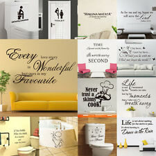 DIY Quote Art Removable Vinyl Quote Home Room Wall Sticker Decal Mural Décor