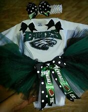 Philadelphia eagles tutu outfit, NFL, football, sizes nb-6