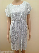 New Next Occasions Maternity Silver Sequin Dress Sz UK 10 12 14 18 rrp £50