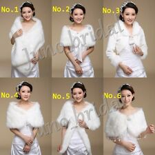 Wedding Bridal Faux Fur Coat Jacket Cape Bolero Scalf Shawl Shrug Wrap Cloak