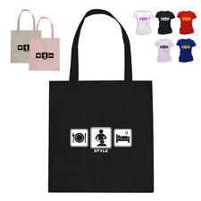 Hairdresser Gift Cotton Tote Bag Style Hair Daily Cycle