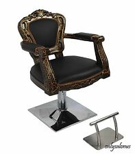 4 X BARBER CHAIR STYLING STYLE SALON ANTIQUE HYDRAULIC BEAUTY EQUIPMENT SUPPLY