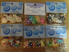 Dress It Up Embellishment Buttons Sewing Card Making Crafts Scrap Booking