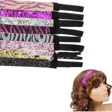 1Pcs New Hot Collections trend head band glitter ribbon Sports Headbands