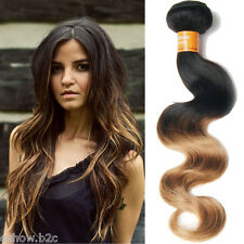 "Ombre INDIAN 10""-30"" Hot 50g/pc Bundles Body Wave Extensions Remy Human Hair New"