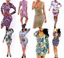 Sexy Women's Printing Cocktail Clubwear Clothing Club Bandage Bodycon Dress