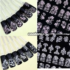 108pcs 3D Colorful Nail Art Tips Stickers Decal Wrap Acrylic Manicure Decoration