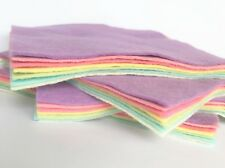 """Wool Blend Felt - 7 Sheets - 6"""", 9"""" or 12"""" Squares or 9"""" x 4.5"""" - FREE UK P&P"""