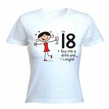 BUY ME A DRINK 18TH BIRTHDAY T-SHIRT - Gift Present Party -Size S to XL