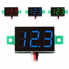 "0.36"" LED Mini Digital Voltmeter 0-100V Panel-Meter Spannungsanzeige Rot Blau"