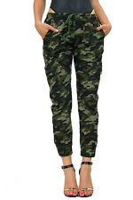 Olive Brown Camouflage Drawstring Side Pockets 11127 Cargo Army Jogger Pants
