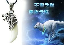 Hot Mens Domineering Brave Wolf Tooth Necklace Titanium Pendant Fashion Jewelry