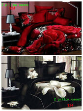 "2 pillow cases 100% Cotton 3D  Queen/King Size 20""x30""45x75cm Bed pillowcases"