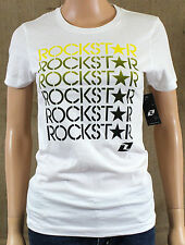 One Industries Rockstar Picassa Graphic T-Shirt Womens White Crew Tee New NWT