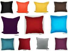 "Plain 100% Cotton Cushion Covers Decorative Bedroom Pillow Case 16"" 18"" 20"" Size"