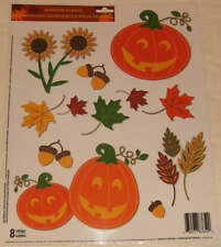 Window Clings, Thanksgiving, Fall, Harvest  Scarecrow, Leaves, Great for schools