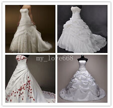 New Hot Sale Stock White/Ivory Wedding Dress Bridal Gown Size: 6/8/10/12/14/16