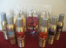 YANKEE CANDLE ROOM SPRAY -YOU CHOOSE - BONUS -CAR JAR WITH PURCHASE OF 2 OR MORE