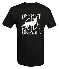 One Shot, One Kill -Coyote Hunting T Shirt Predator Outdoor sport- Custom Tee