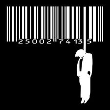 BARCODE GALLOWS (activist hung code hanger scanner bar banksy suicide) T-SHIRT