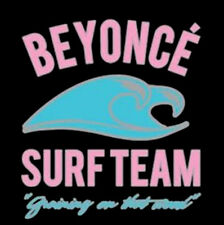 Beyonce Surf Team Grinding On That Wood Surfboard Queen Bee Funny T Shirt Tee