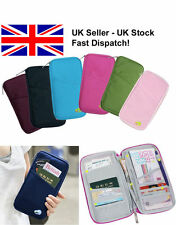Passport Holder Travel Bag Wallet Organiser Zipped Full Closure Tickets Holder