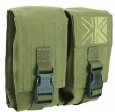 PREDATOR DOUBLE AMMO MOLLE POUCH IN OLIVE GREEN BY KARRIMOR - MILITARY, SECURITY