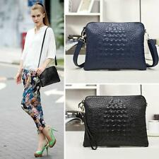 Fashion Women Genuine Leather Crocodile Clutch Envelope Purse Crossbody bag OT8G