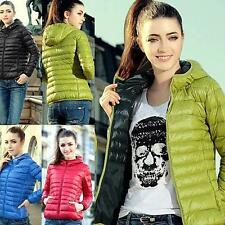 Fashion Women Winter Warm Candy Color Thin Slim Down Coat Jacket Overcoat OT8G