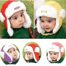 New Baby Kid Children Velvet Ear Protector Hat Bomber Pilot Warm Winter Caps