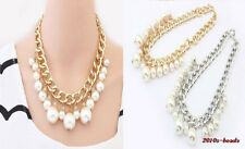 wholesale Fashion Exquisite Thick Chain Big Pearl Lady Beautiful Necklace