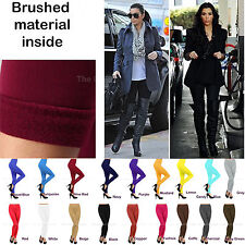 Womens Fleece Lined Leggings Thick Warm Tights Thermal Pants Hosiery XS,S,M,L