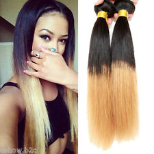 US ship Unusual Ombre 1B/27# STRAIGHT BRAZILIAN HUMAN HAIR EXTENSION HOT sale