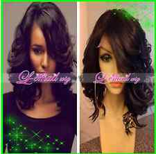 100% remy human hair Short Curly wave bob Fashion full lace wigs/lace front wigs