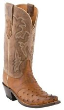 LUCCHESE SINCE 1883 M5603 S54 WOMENS TAN fULL QUILL OSTRICH COWBOY BOOTS
