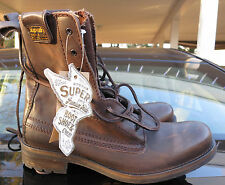 NEW Outstanding BRITISH SUPERDRY MENS Leather BROWN TRAWLER Boots FREE SHIP