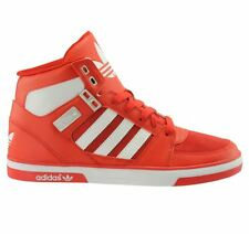 ADIDAS HARD COURT HI-MENS BOOTS / TRAINERS-BRIGHT RED-LEATHER-H60777-COLLECTORS
