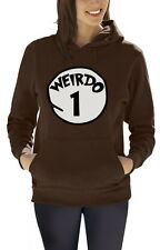 Weirdo 1 Costume Women Hoodie Halloween Matching couples Best Friends Red Thing