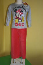 Disney Minnie Mouse ♦ Velour Nicki Pyjama Schlafanzug ♦ Gr. 104 - 116 - 128