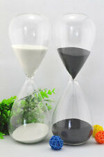 Big Sand Glass Clock Watch Hourglass Timer 60 Minutes Craft Wedding Decor Gift