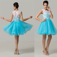 Salable Women Homecoming Lace Tulle Evening Prom Bridesmaid Birthday Party Dress