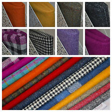 Harris Tweed Fabric & Labels VARIOUS COLOURS & SIZES craft herringbone tartan
