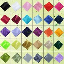 Men's Polyester Silk Pure Color Party Hanky Napkin Handkerchiefs Pocket Square
