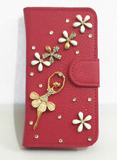 3D Bling Diamond Ballet Flip Leather Card Wallet Case Cover for Nokia Phones