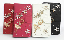 3D Ballet Diamond Crystal Flip Leather Card Wallet Case Cover for SONY Phones