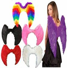 FANCY DRESS FEATHER GOTHIC ANGEL WINGS HEN NIGHT PARTY HALLOWEEN COSTUME