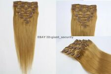 #27 Caramel Blonde Full Head Clip in 100% Remy STW Human Hair Extensions C11