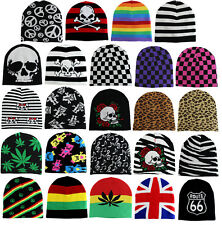 New Short Printed Mens Knit Winter Fashion Warm Ski Beanie