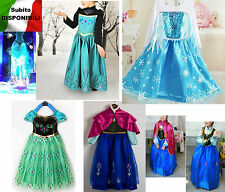 Frozen - Vestiti Carnevale Maschera Elsa Anna - Girl Dress up Costumes  789001-8