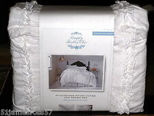 Simply Shabby Chic PIECED MESH White Lace KING DUVET COVER & KING Shams